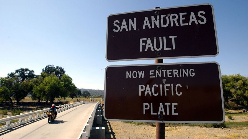 The San Andreas Fault in Parkfield, Calif.