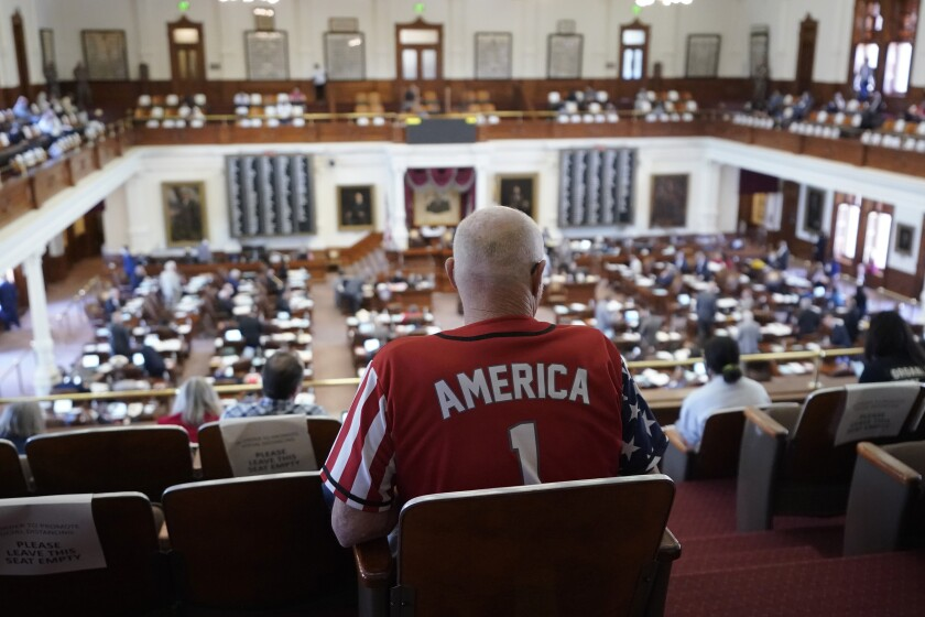Gerald Valti sits in the House Chamber in Texas Capital