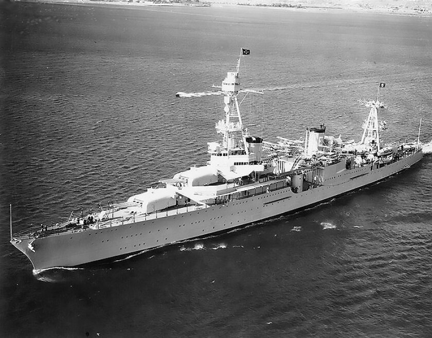 An official 1930 photo of the U.S. heavy cruiser Houston. Navy divers Monday confirmed that a wrecked vessel in the Java Sea is the Houston.