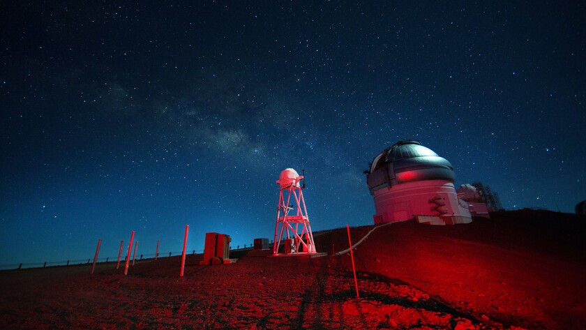 """Stars above Mauna Kea observatory, Hawaii, in in the documentary """"The Most Unknown."""""""
