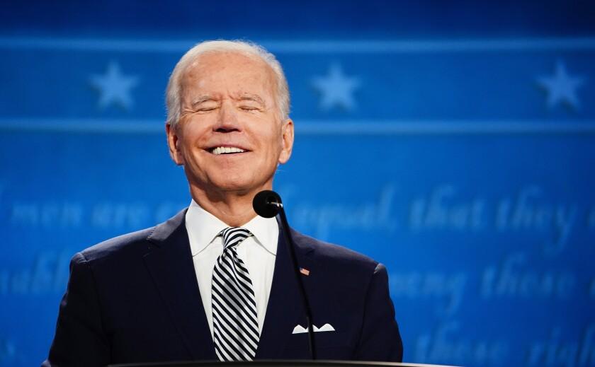 El candidato presidencial demócrata Joe Biden