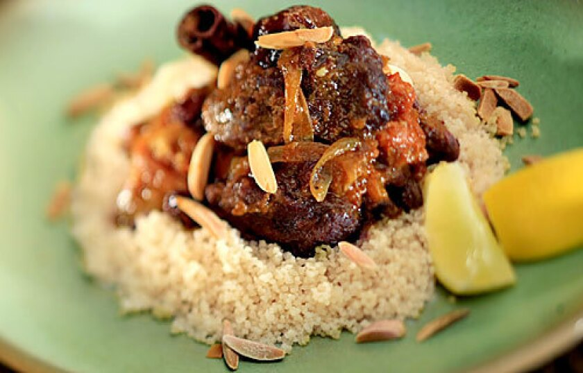 Lamb tagine with dried fruit.