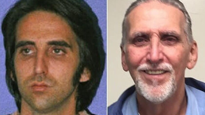 Craig Coley is shown when he was booked on suspicion of murder, left, and recently, after he was inf