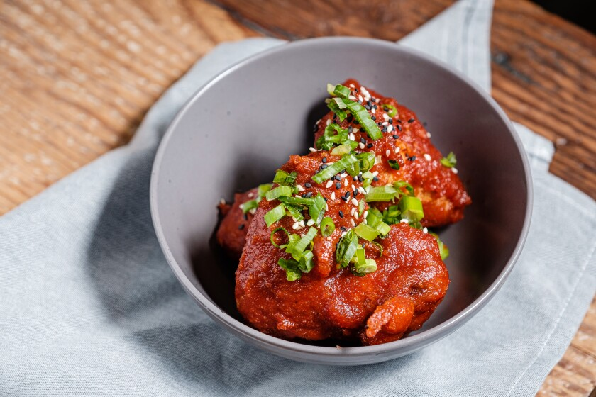 The Korean-style chicken wings at The Florence restaurant in Sabre Springs.