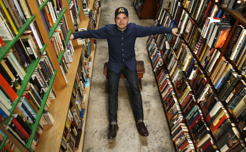 LOS ANGELES, CA-JUNE 24, 2015: Author J. ryan Stradal is photographed at Stories Books and Cafe in