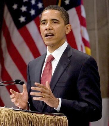 Barack Obama delivers a speech on economy