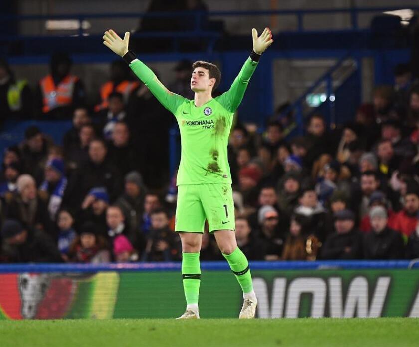 El portero Kepa Arrizabalaga del Chelsea, durante un partido. EFE/Archivo