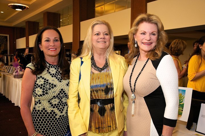 Honorary chair Joan Waitt, Sheila Fortune and Judy Corrente attend the Honeybee Fashion Show and Luncheon, March 18, 2015 at Hilton La Jolla Torrey Pines to benefit the Epilepsy Foundation of San Diego.