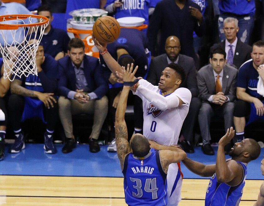 Russell Westbrook leads the way as Oklahoma City Thunder wrap up series