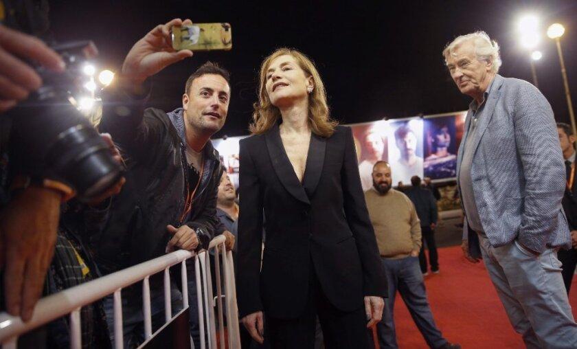 Isabelle Huppert and director Paul Verhoeven