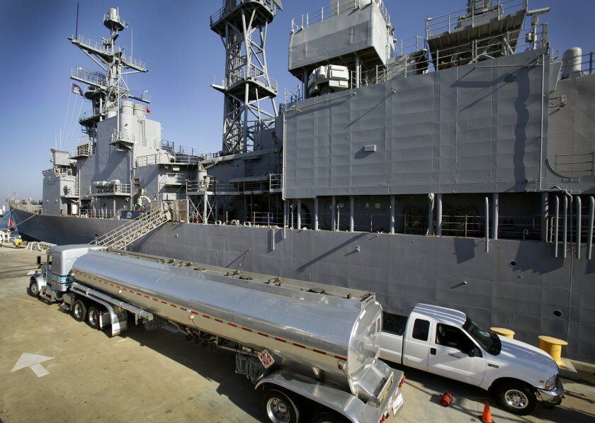 Algae-based biofuel was tested in November on the Self Defense Test Ship, formerly the destroyer Paul F. Foster, at Naval Base Point Loma.
