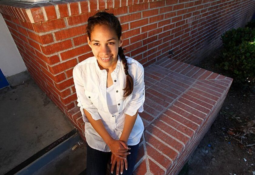 """Jesica Sardin: A The Chula Vista High student-athlete, who will attend UCSD with a full scholarship, realized late in elementary school that working hard would get her places. """"If you try just a little bit at a time, you will learn about so many things you can do in life,"""" said Jesica, 18."""