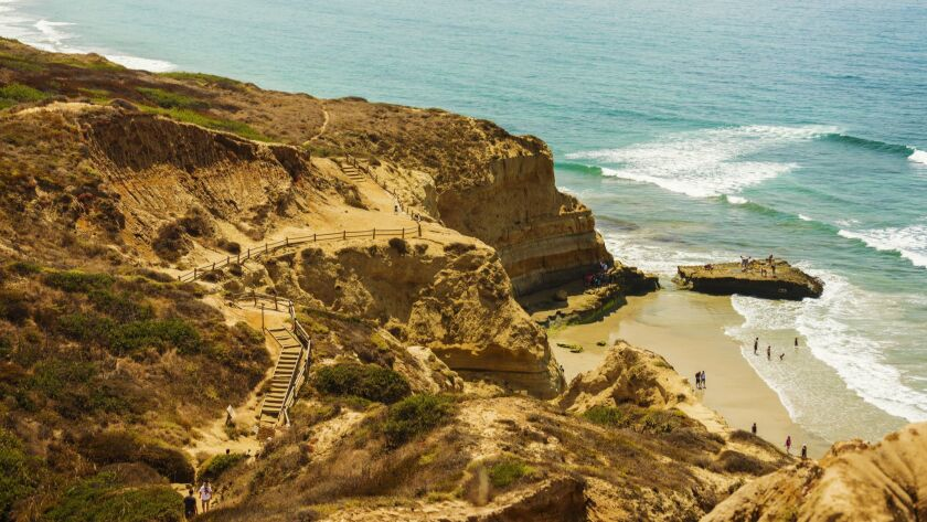 Torrey Pines State Reserve with Black's Beach, San Diego