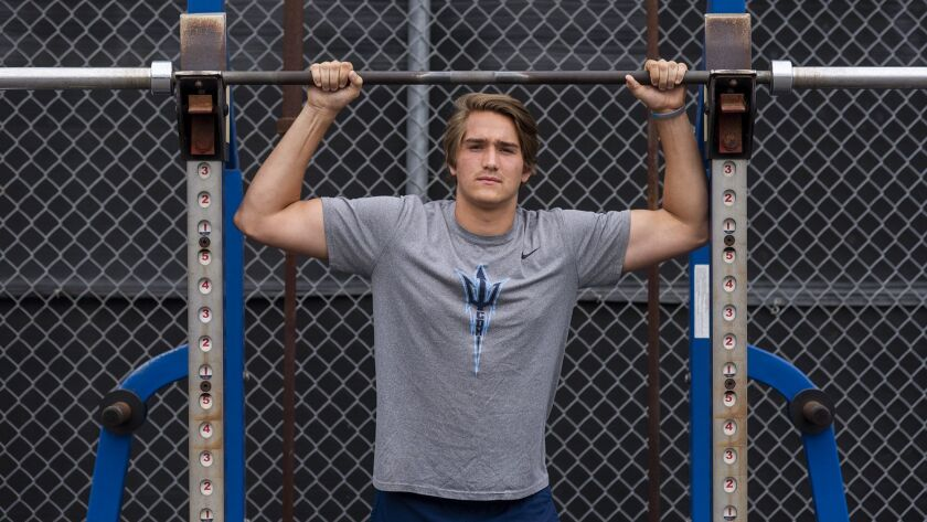 Corona del Mar High's football tight end Mark Redman has received some offers from big-time programs