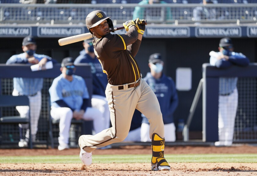 The Padres' Eguy Rosario