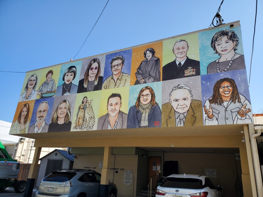 A new mural featuring artwork by authors can be found on the lane side of Warwick Bookstore on Drury Lane.