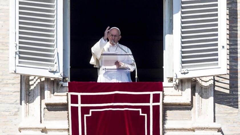 Pope Francis celebrates Angelus prayer, Vatican City, Vatican City State (Holy See) - 17 Feb 2019
