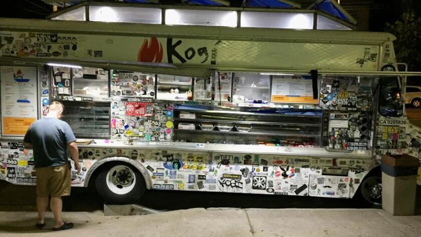 Line up at Kogi BBQ, Korean-Mexican queen of L.A. food truck culture