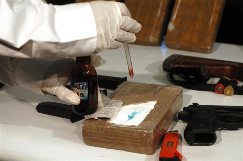 Fotografia de archivo un decomiso de droga en la ciudad de Monterrey, norte de México. EFE/Archivo