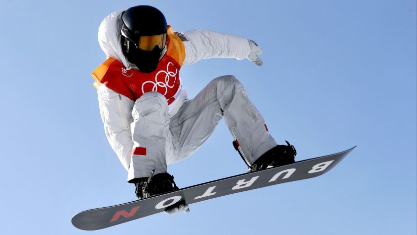 Shaun White jumps during the men's halfpipe qualifying at Phoenix Snow Park.