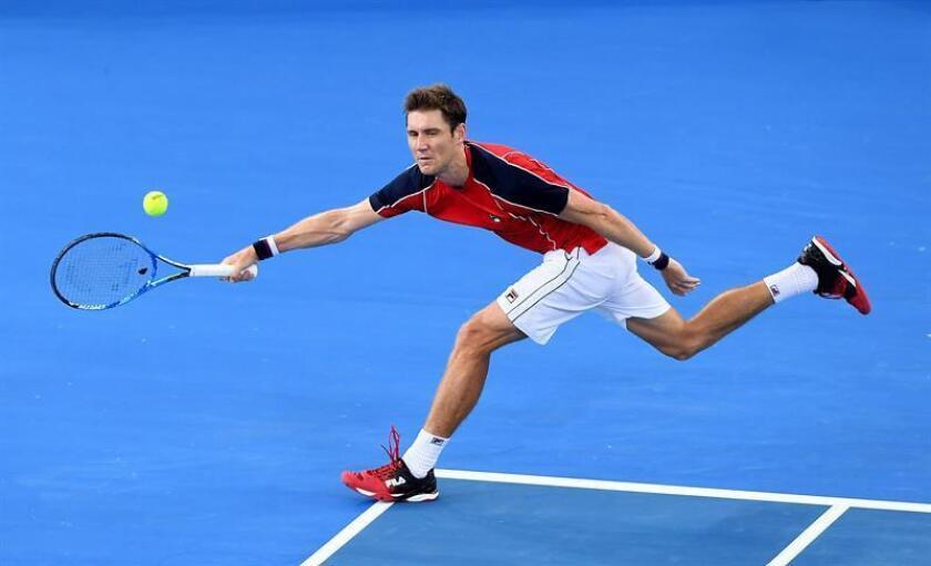 El australiano Matthew Ebden, 87 del ránking de la ATP, dio la primera sorpresa del Abierto Mexicano de Tenis al derrotar este martes al estadounidense Sam Querry, campeón defensor, por 6-3, 1-6 y 7-6 (5). EFE/ARCHIVO/ NO USAR EN AUSTRALIA Y NUEVA ZELANDA