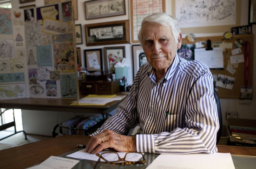 Jim Whiting has been having his cartoons published in books and magazines since 1949. His work is featured in the Comic Art show on display this month at the Escondido arts center.