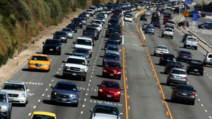 Traffic gets heavy at the start of the Memorial Day weekend on the Pacific Coast Highway on May 27, 2011. The 2018 holiday weekend is expected to draw a record number of Californians to travel, despite higher gas prices.