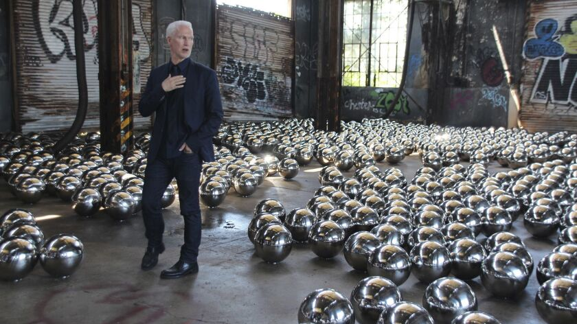 "29 June 0218, New York, US: Curator Klaus Biesenbach at the installation ""Rockaway! 2018: Narcissus"