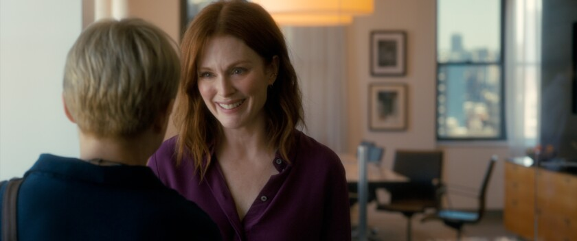 Michelle Williams as Isabel and Julianne Moore as Theresa Young