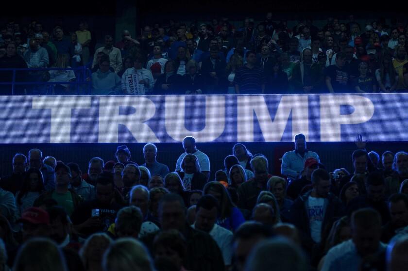 Donald Trump en Charleston, West Virginia. / AFP PHOTO / Brendan Smialowski