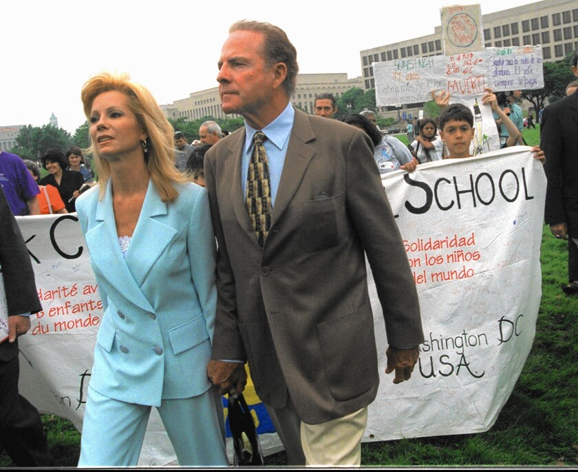 Kathie Lee Gifford and Frank Gifford in 1998.