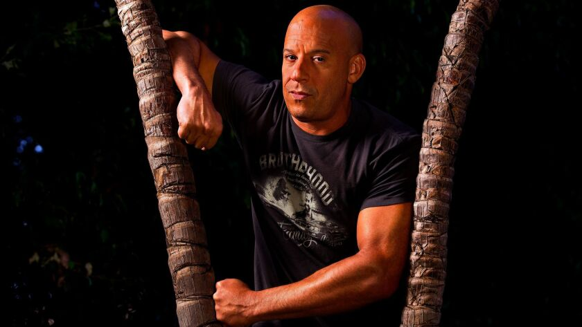 """Actor-producer Vin Diesel, who stars in the movie, """"The Fate of the Furious,"""" the eighth installment"""