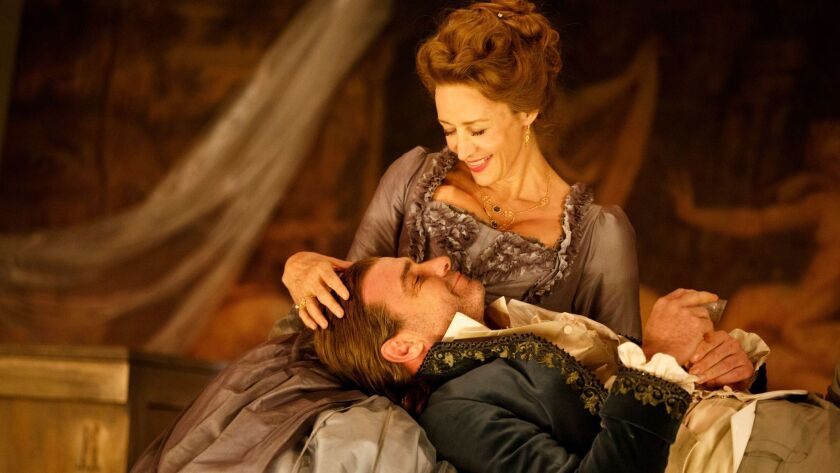 """Janet McTeer and Liev Schreiber in """"Les Liaisons Dangereuses."""""""