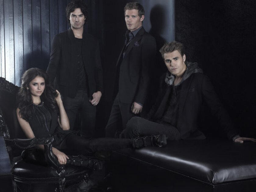 "Nina Dobrev, Ian Somerhalder, Joseph Morgan and Paul Wesley in ""The Vampire Diaries"" on the CW."