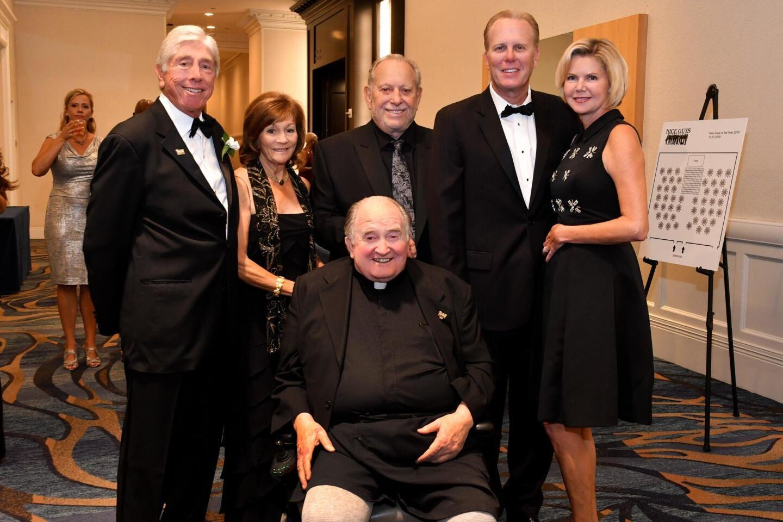 Vincent J. Bartolotta Jr. (Nice Guys president) and Judy Bartolotta, Father Joe Carroll (1990 NGoY), Lou Ferrero (2004 NGoY), Mayor Kevin and Katherine Faulconer