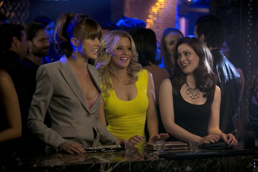 "Sarah Wright Olsen, from left, Elizabeth Banks and Gillian Jacobs in ""Walk of Shame."""