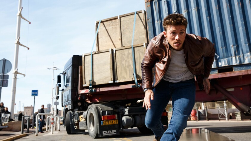 """Scott Eastwood in the movie """"Overdrive."""""""