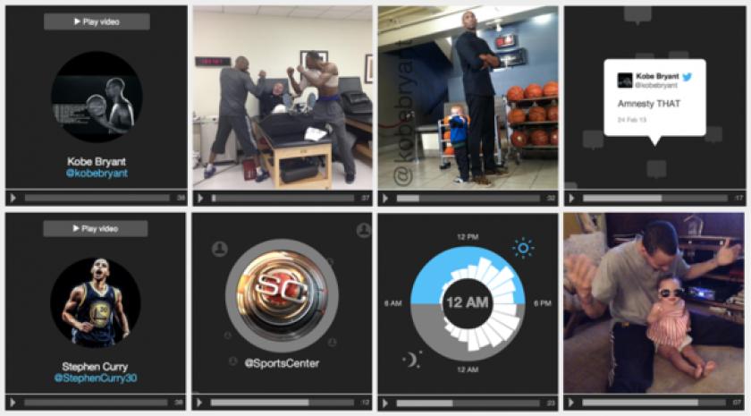 The #FollowMe tool creates an animation that mixes tweets, photos and analytics.