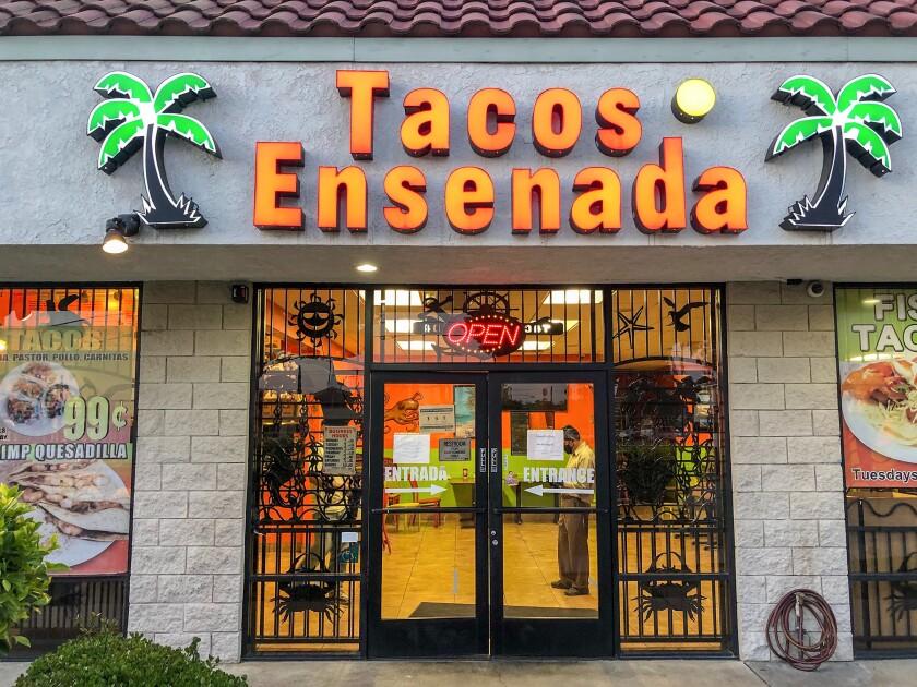 Exterior of Tacos Ensenada in Duarte.