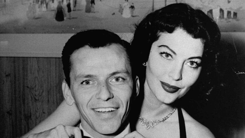 Ava Gardner with then-husband Frank Sinatra in 1951.