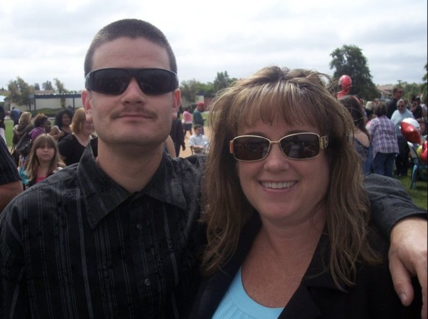 Mark Armendo and his mother, Patrice Clines, posed in a provided photo