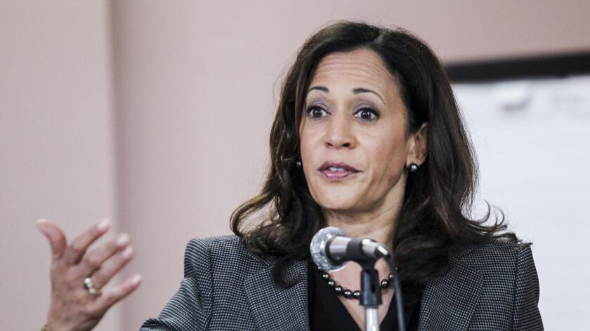 Fiscal de California, Kamala Harris.