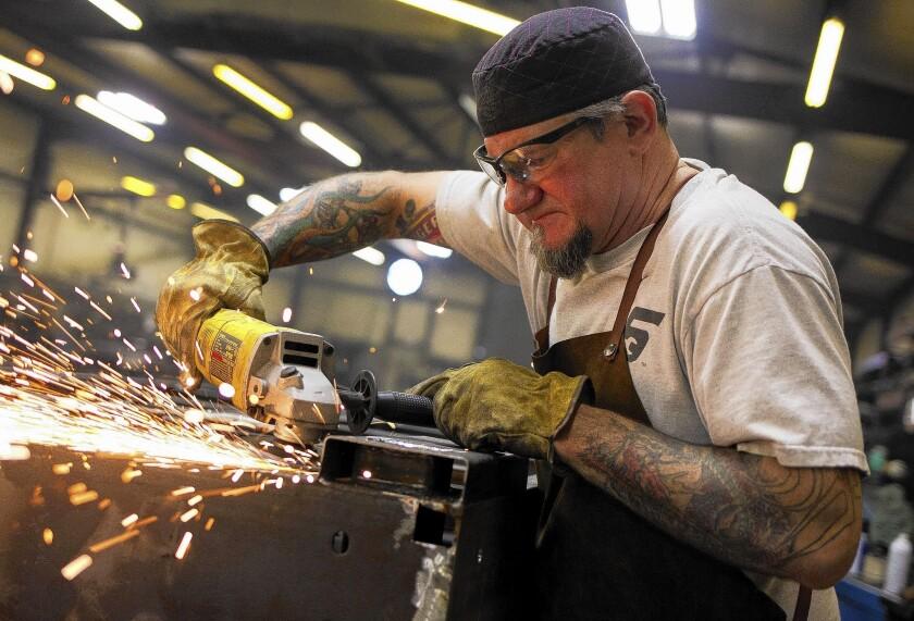 Loren Minnis now works as a welder