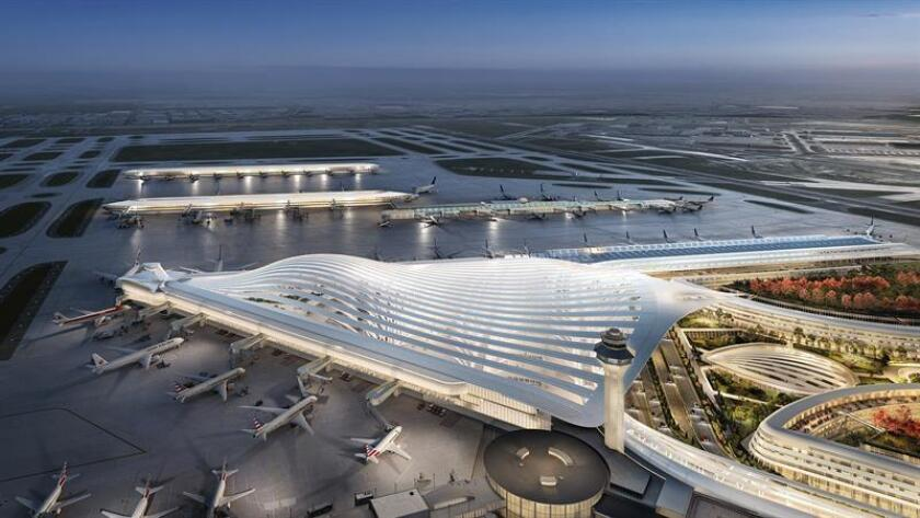 "Image released Ja. 17, 2019, by the City of Chicago where the proposal of the Spanish architect Santiago Calatrava, who is part of the five finalists competing for the renovation of the O ""Hare International Airport in Chicago, Illinois, is shown. EPA-EFE/City of Chicago/EDITORIAL USE ONLY/NO SALES"