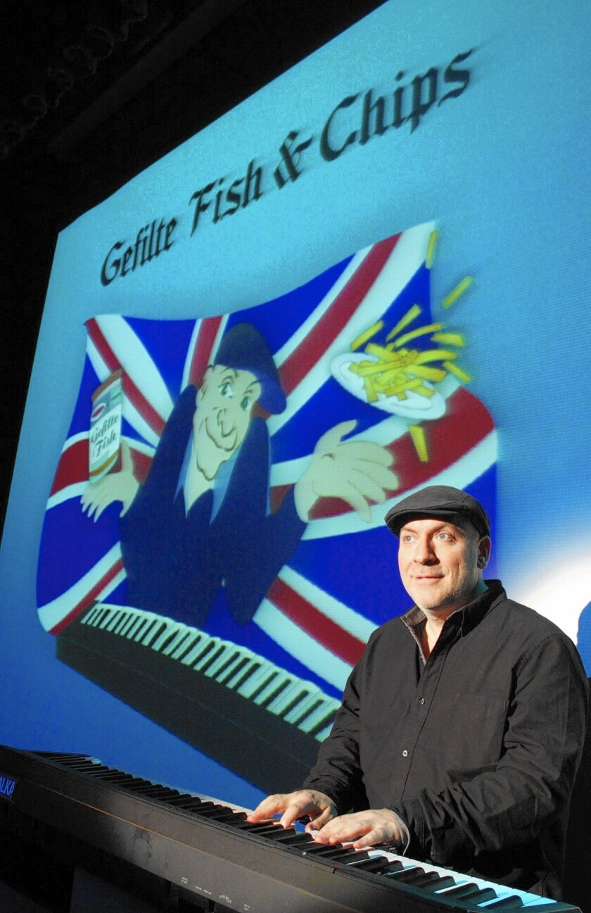 """""""Gefilte Fish & Chips"""" is at the Huntington Beach Central Library Theater through March 22."""