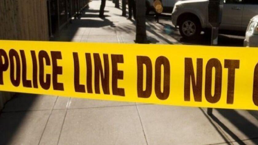 Generic yellow police tape