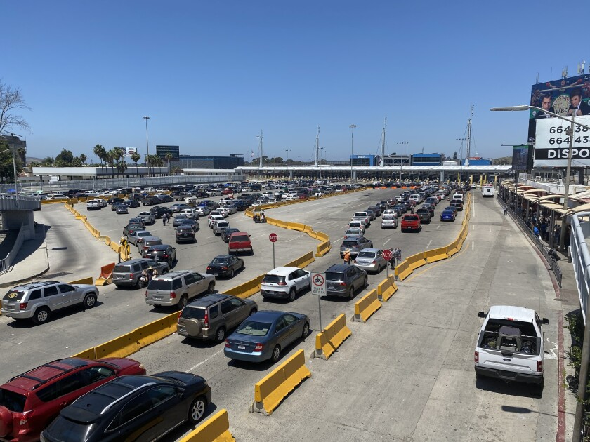 The San Ysidro Port of Entry in May 2020
