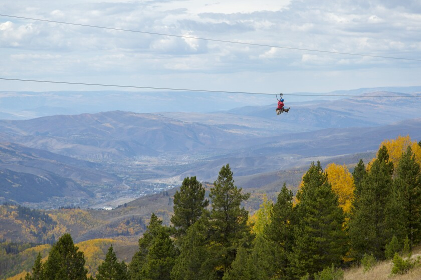 Part of the Canopy Tour at Vail Mountain in Colorado. Both ski resorts offer Epic Discovery programs in summer.