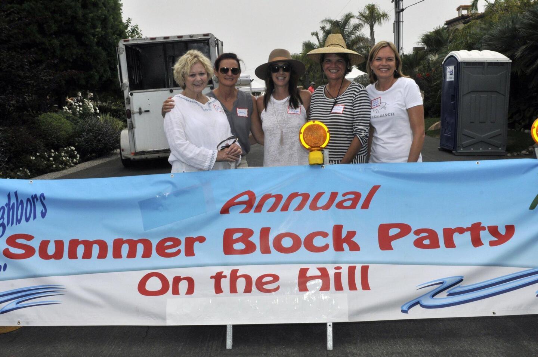 Block party committee members Sharon Wylie, Jackie Nagy, Marlo Milligan, Deb Hubers, Jacquie Johnson