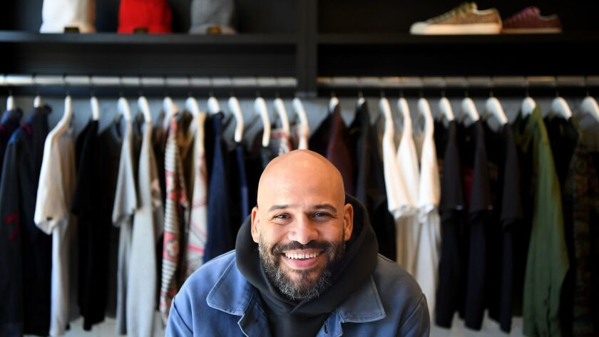 """Owner Chris Gibb inside his L.A. men's shop Union, which opened in 1991. """"I'm proud to say we're a b"""
